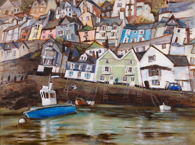 Dartmouth 2 - Oil and mixed media on canvas, 100 x 76cm - framed - SOLD