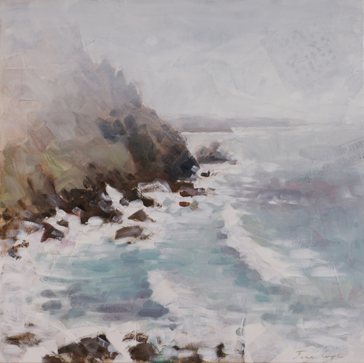 'Priest's Cove, CapE Cornwall', 40 x 40cm SOLD