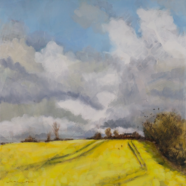 'Summer morning', oil on canvas, 40 x 40cm SOLD
